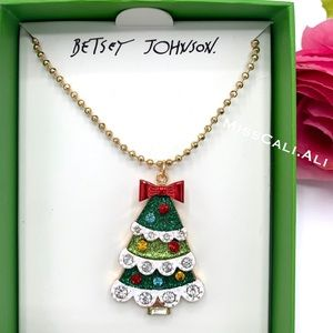 Betsey Johnson Christmas Tree Necklace Gift Box
